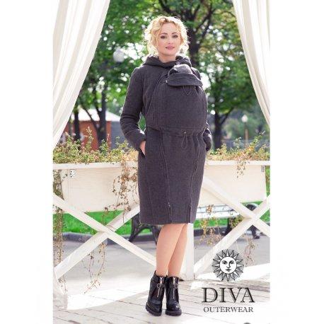 Diva Milano babywearing coat 4 in 1 (winter) Antracite