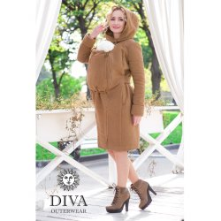 Diva Milano babywearing coat 4 in 1 (winter) Camello