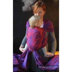 LennyLamb dětský šátek pro panenky Mico Red & Purple