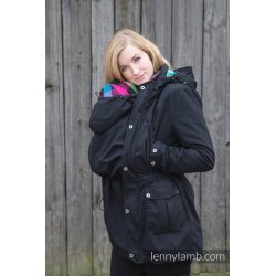 LennyLamb Parka Babywearing Coat BLACK & DIAMOND PLAID