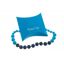 Silicone beads Mama Chic - Navy-blue-teal