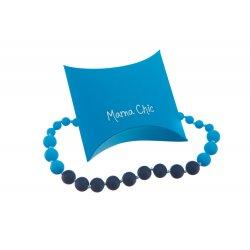Silikonové korále Mama Chic - Námořnická modř-modrá-tyrkys