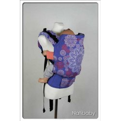 Natibaby babycarrier NatiGo Carrier Ornament Circles Lazur