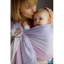Little Frog ring sling Linen Lilac Cube
