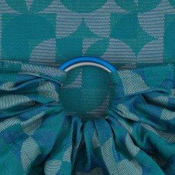 Fidella ring sling Kaleidoscope - ocean teal
