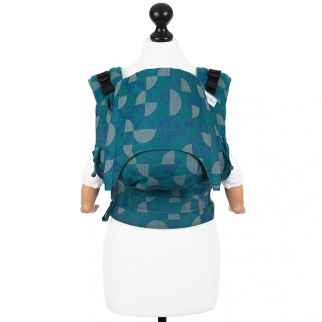 Fidella Fusion babycarrier with buckles - Kaleidoscope - ocean teal