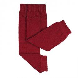 Baby leg warmers Hoppediz cashmere/merino - dark red