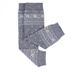 Baby leg warmers Hoppediz cashmere/merino - Norwegian grey
