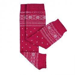Baby leg warmers Hoppediz cashmere/merino - Norwegian red