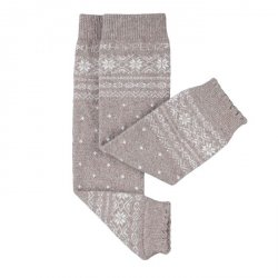 Baby leg warmers Hoppediz cashmere/merino - Norwegian sand