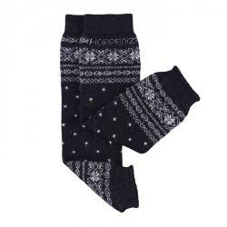 Baby leg warmers Hoppediz cashmere/merino - Norwegian black