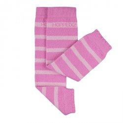 Baby leg warmers Hoppediz cashmere/merino - pink rose striped