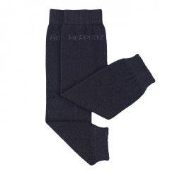Baby leg warmers Hoppediz cashmere/merino - black