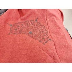 Angel Wings Mikina s nápletem korálová