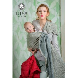Diva Milano ring sling Basico Damasco