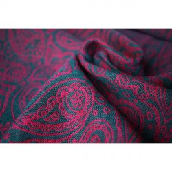 Yaro Lace Contra Violet Petrol Wool