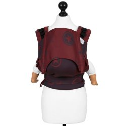 Fidella Fusion babycarrier with buckles - Outer Space - ruby red