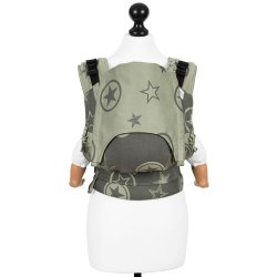 Fidella Fusion babycarrier with buckles - Classic - Outer Space - reed green