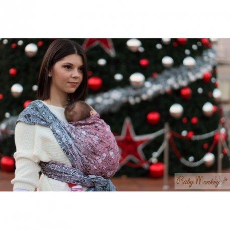 Baby Monkey Ring Sling - Santa Claus - Holly