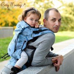 BabyMonkey ergonomické nosítko Regolo Space - Celeste Glitter