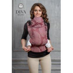 Diva Milano ergonomické nosítko s přezkami - Diva Essenza - Berry