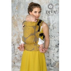 Diva Milano ergonomické nosítko s přezkami - Diva Essenza - Savana