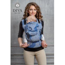Diva Milano ergonomické nosítko s přezkami - Diva Essenza - Azzurro