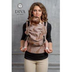 Diva Milano ergonomické nosítko s přezkami - Diva Essenza - Moka