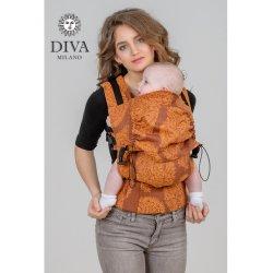 Diva Milano ergonomické nosítko s přezkami - Diva Essenza - Terracotta