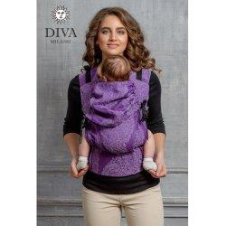 Diva Milano ergonomické nosítko s přezkami - Diva Essenza - Viola
