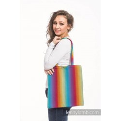 LennyLamb Bag Little Herringbone Rainbow Navy Blue