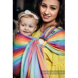 LennyLamb ring-sling Little Herringbone Rainbow Light