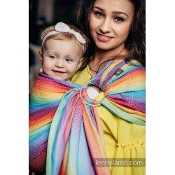 LennyLamb ring-sling Little Herringbone Rainbow Light