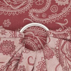 Fidella ring sling Classic - Persian Paisley - Ruby red
