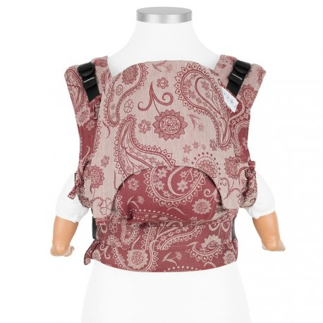 Fidella Fusion babycarrier with buckles - Persian Paisley - ruby red