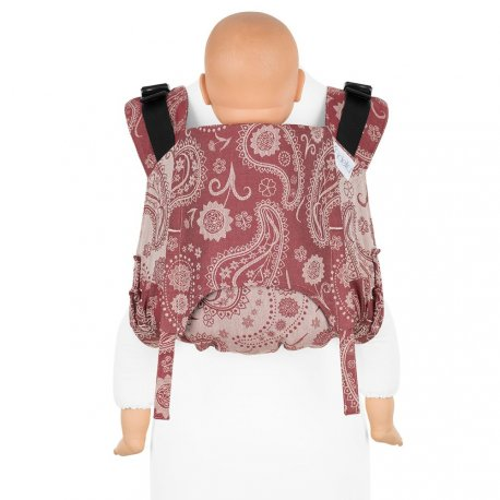 Fidella Onbuhimo V2 back carrier - Persian Paisley - ruby red