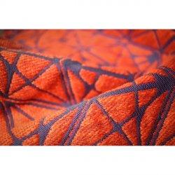 Yaro Ring sling Foxes Puffy Orange Purple Hemp Tencel