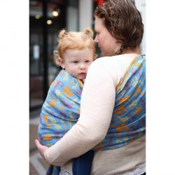 Yaro Ring Sling Cats Ultra Blue Orange Linen