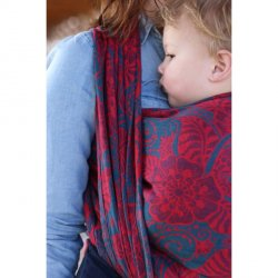 Yaro Ring Sling Ava Ultra Navy Red Bamboo Hemp