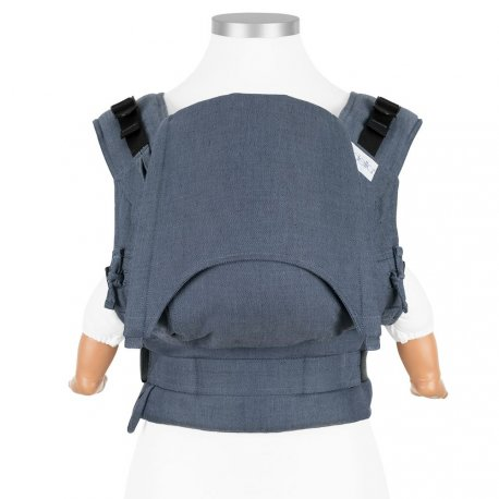 Fidella Fusion babycarrier with buckles - Chevron - denim blue