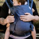 Fidella Fusion 2.0 babycarrier with buckles - Chevron - denim blue
