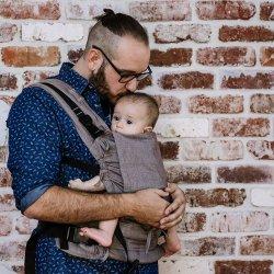 Fidella Fusion babycarrier with buckles - Chevron - walnut