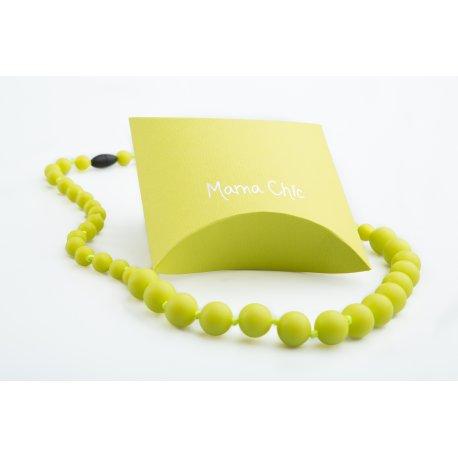 Silicone beads Mama Chic - neon yellow
