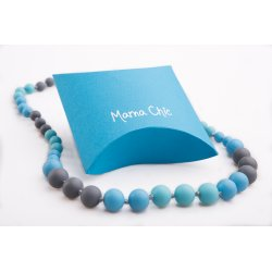 Silicone beads Mama Chic - bluegrey