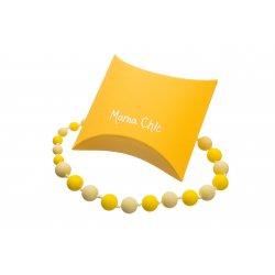 Silikonové korále Mama Chic - žlutá-pastelově žlutá