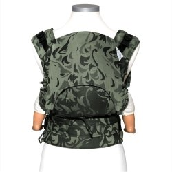 Fidella Fusion babycarrier with buckles - Wolf - reed green