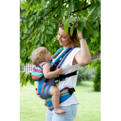 LennyLamb ergonomic carrier Zumba Blue