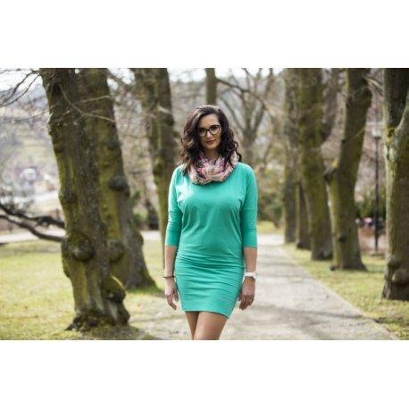 Angel Wings Ladies dress - emerald