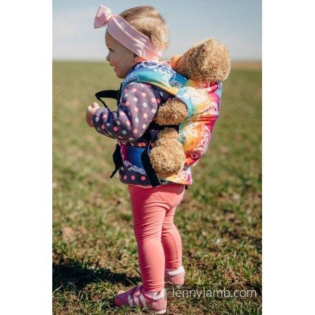 LennyLamb dětské nosítko pro panenky Butterfly Rainbow Light