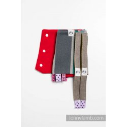 LennyLamb Drool Pads and Reach Straps Set Oasis